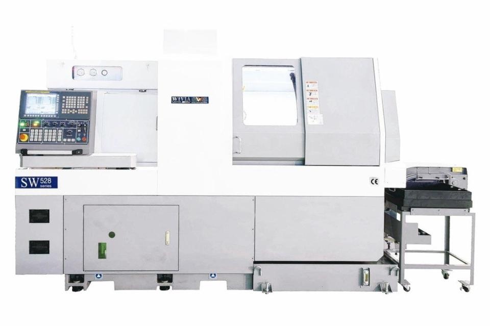 威亞SW系列走心式電腦車床。 威亞機械/提供
