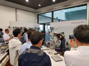 2018年時智動協會率團參訪瑞士企業現場。 智動協會/提供