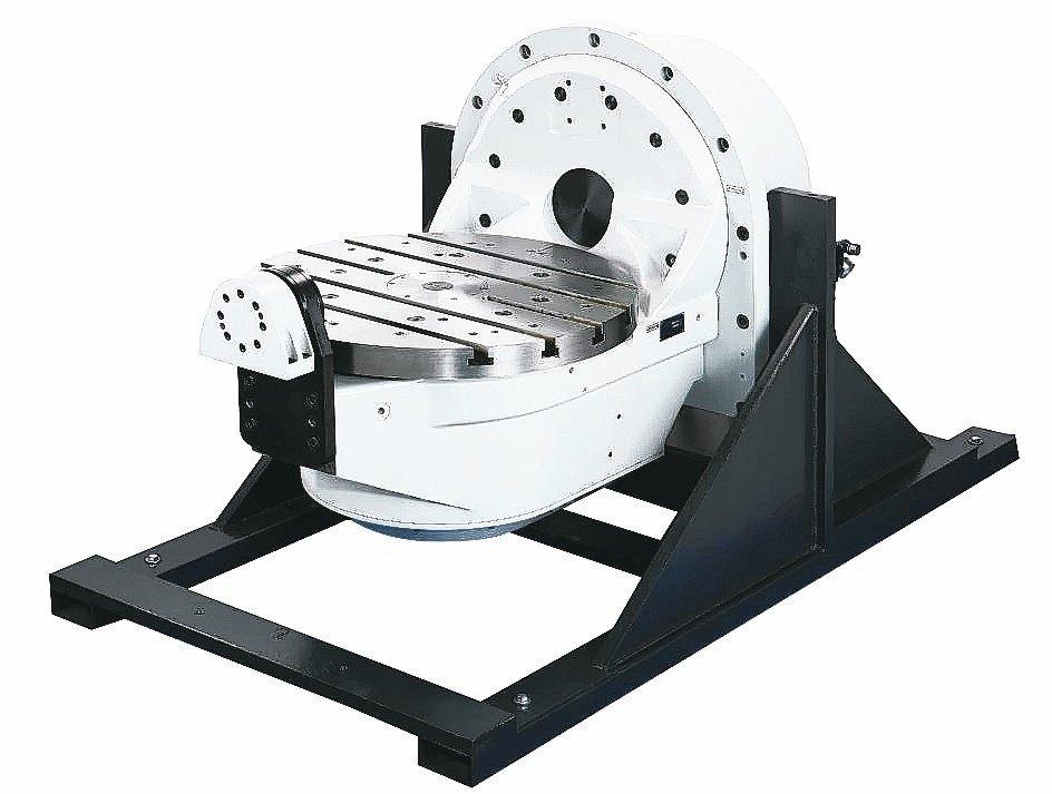 和昕單臂式5軸直驅分度盤,具備高速、高精度的曲面切削加工能力。 和昕/提供