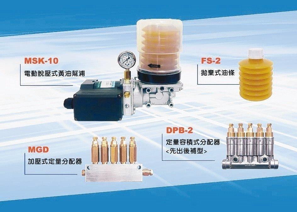 永鈿產製MSK-1FW新型電動油脂脫壓幫浦。 永鈿公司/提供