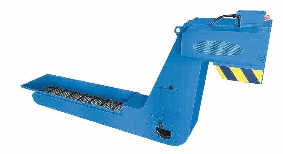 逢吉工業成功開發的新一代鏈板滾筒式排屑機。 魯修斌/攝影