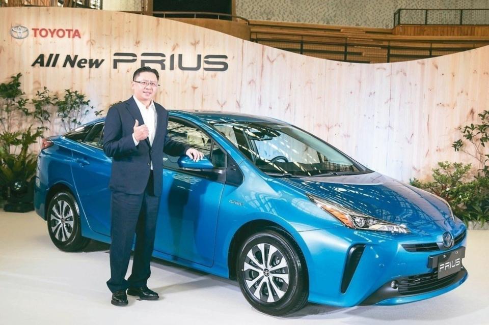 和泰車昨發表PRIUS改款新車,為年後車市戰開出第一槍。圖為和泰車總經理蘇純興。 和泰車/提供