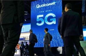 高通在世界通訊大會(MWC)5G晶片的廣泛用途。美聯社。