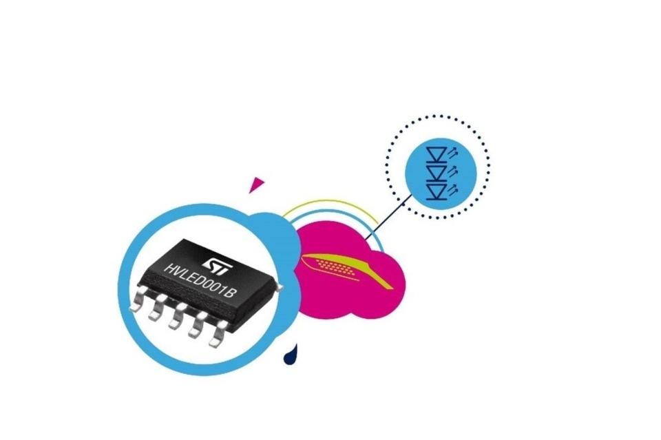 意法半導體推出最先進照明控制器HVLED001B,使燈具設計使用更簡便,節能效果更好。 意法半導體/提供