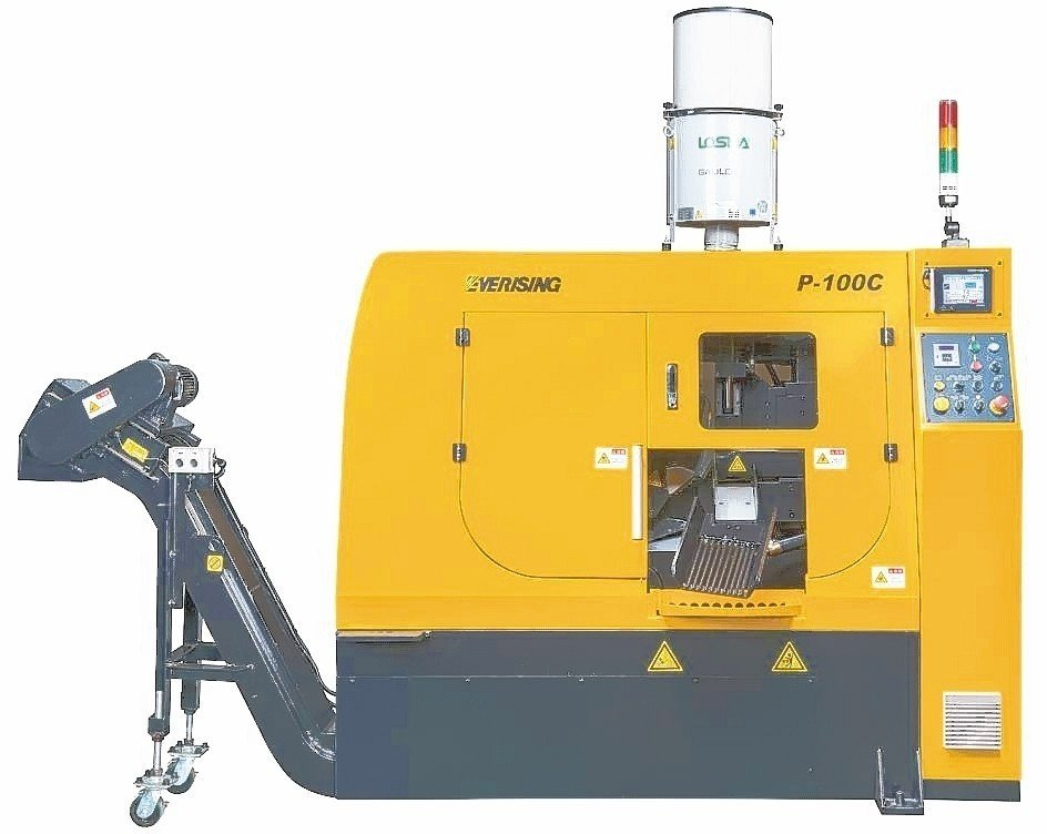 合濟工業在IMTS2018中,由C系列P-100C全自動圓鋸機帶頭展出,成為展覽會最亮點。 合濟工業/提供