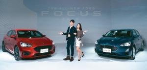 3月車商新車競出,繳出超預期佳績。圖為福特FOCUS(右)。 本報系資料庫