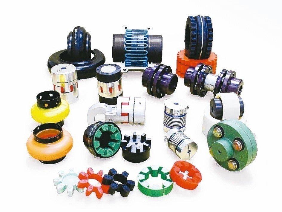 捷鋮興業引進的主軸與進給軸專用聯軸器。 捷鋮公司/提供
