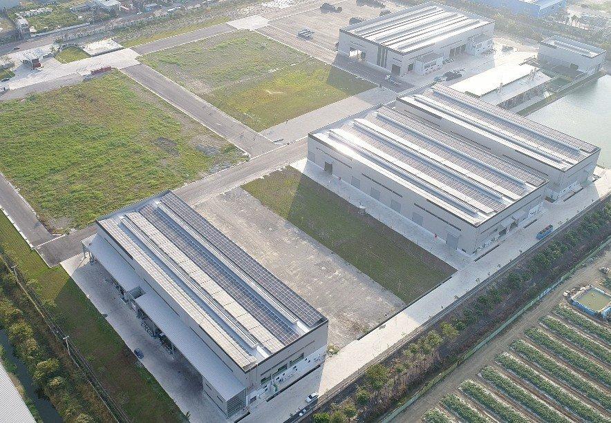 新廠空拍照。 震南/提供。