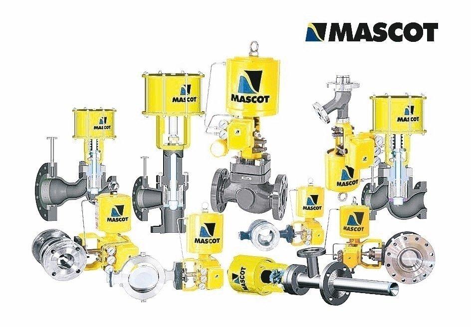 千涵國際公司所代理的MASCOT控制閥系列產品。 千涵/提供