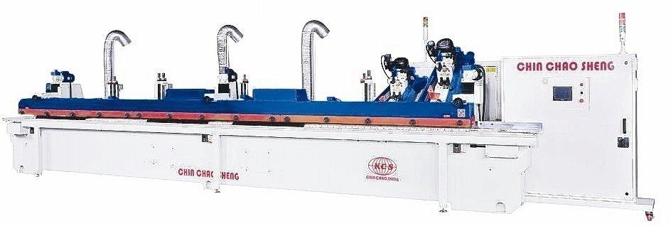 金照盛推出成型滾塗邊研磨機。 金照盛/提供