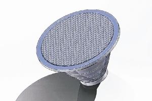 宏輝實業以豐富的原料調配技術,投入高科技橡矽膠產品的研發、生產。圖為某國際大廠委託生產的矽膠LED lens設計圖。 宏輝實業/提供