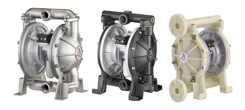 迪晟公司系列氣動式雙隔膜泵浦。 迪晟公司/提供
