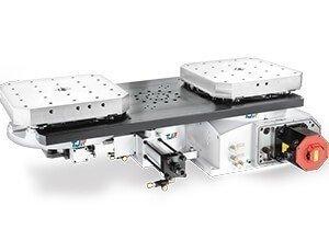 托盤式交換台及雙工作台分度盤 潭佳精密/提供