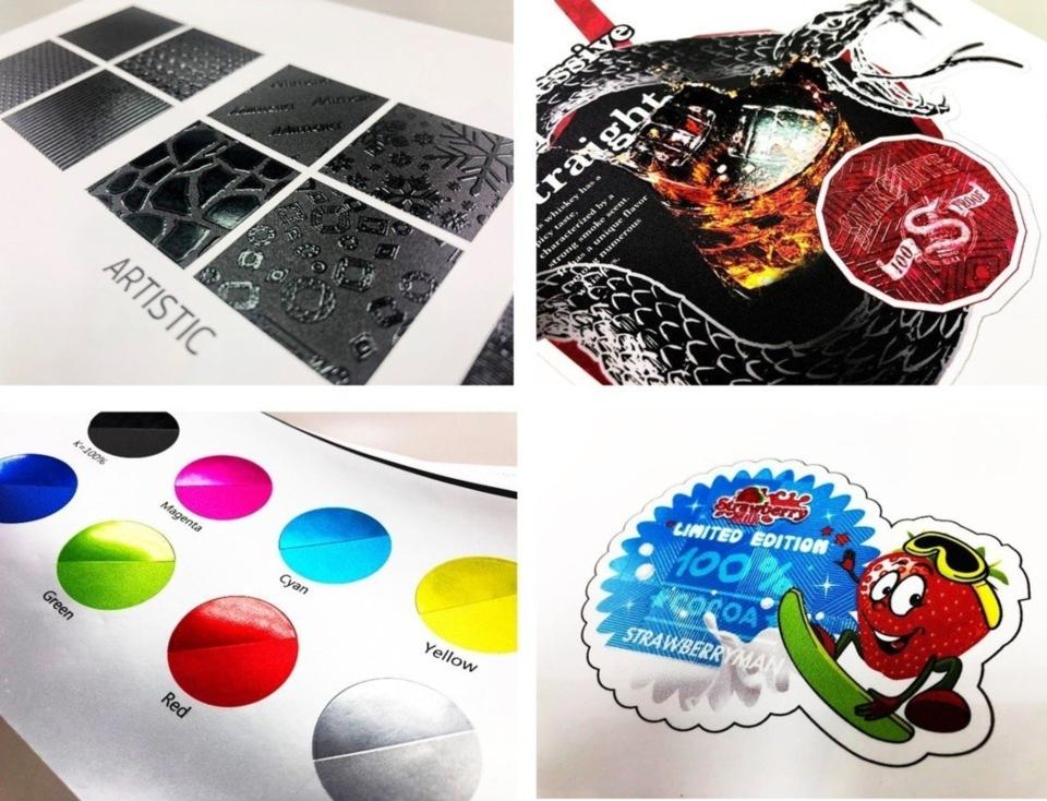 Mimaki 捲式UV噴切機種UCJV300透明墨水應用樣品。業者/提供