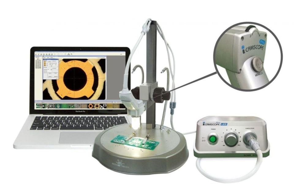 由SOMETECH數位顯微鏡最新推出「工業級數位顯微鏡ICS Pro(可手持式)」,也是本次展會中最大亮點。 璟騰科技/提供。