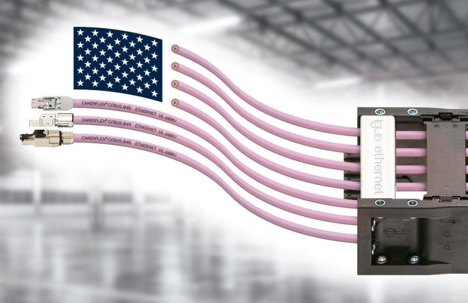 igus開發出具有600伏UL認證的長使用壽命乙太網電纜。 德商台灣易格斯公司/提供