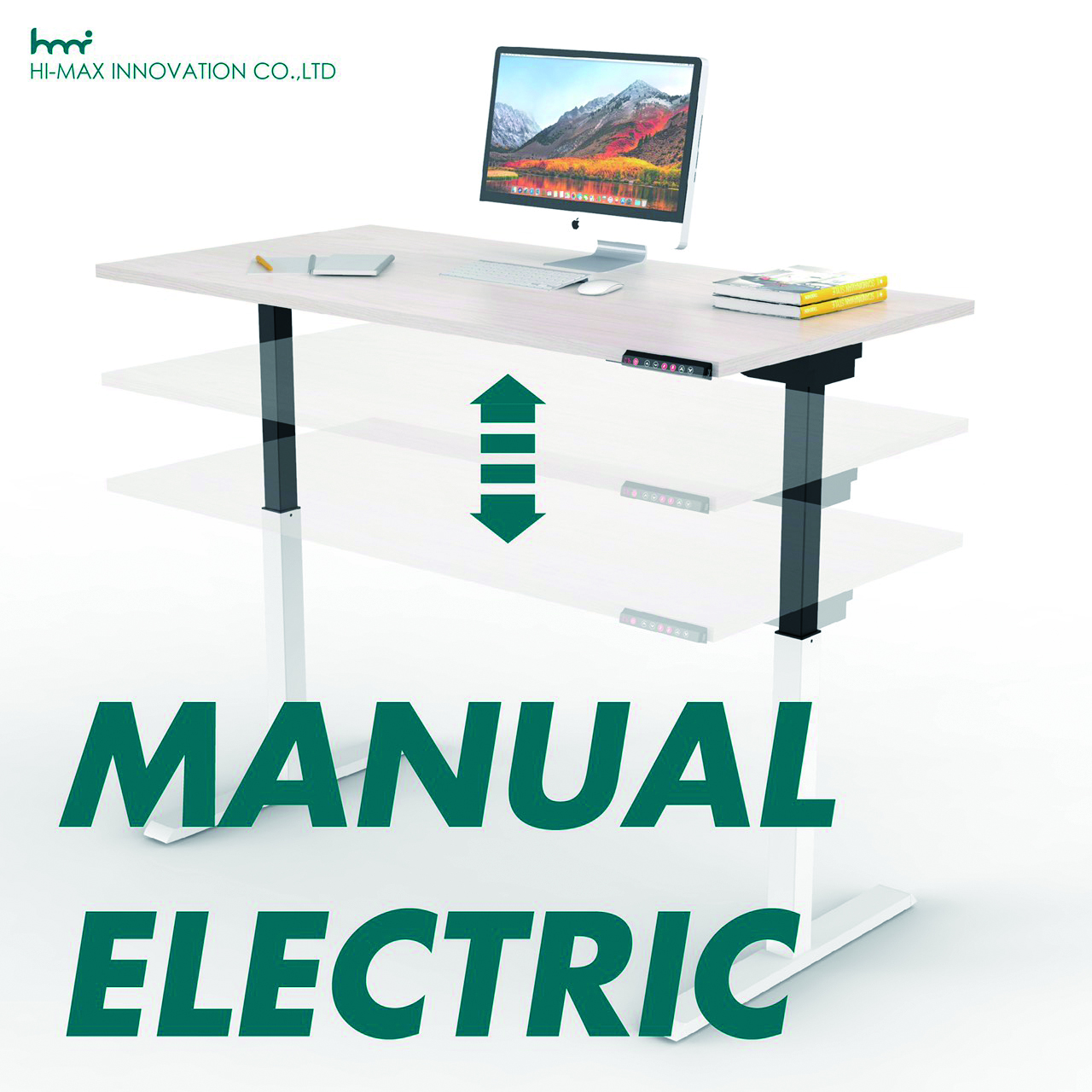 Hi-Maxs height-adjustable desks, coming in manual and electric types, are adaptable in any environment. (photo provided by Hi-Max)
