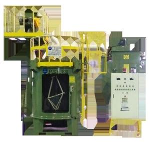新式的雙軸連續吊式噴洗機。 大鎪/提供