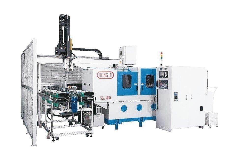 竤基精機研發的SLA-200D型深竤基精機研發的SLA-200D型深孔加工機,採用自動送料設計。竤基精機/提供孔加工機,採用自動送料設計。 竤基精機/提供