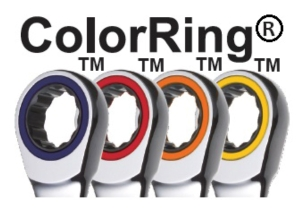 Chang Loon's trademark ColorRing come in red, blue, yellow and orange to brighten up standard wrenches. (photo courtesy of Chang Loon)