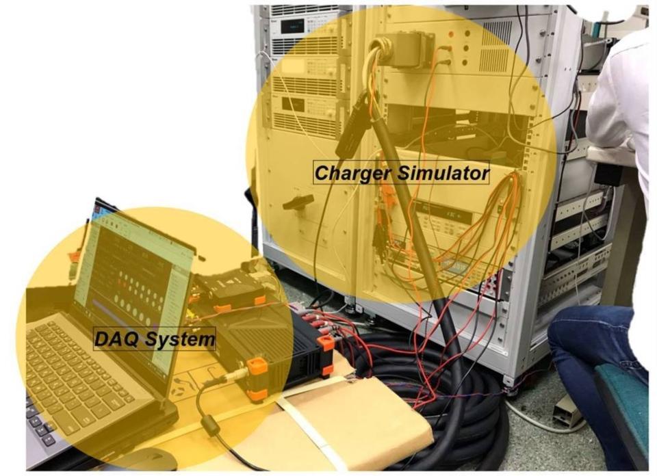 符合日規的 CHAdeMO 充電介面模擬器。 船舶中心/提供