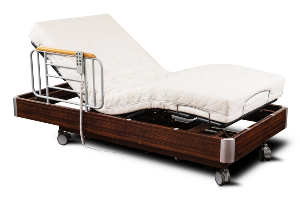 Single-person electric adjustable bed (photo provided by Green May Corporation)