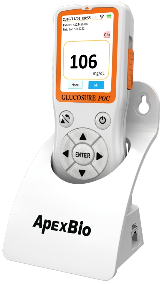 Point-of-Care  Blood Glucose and Ketone Monitoring System (photo provided by Apex Biotechnology Corporation)