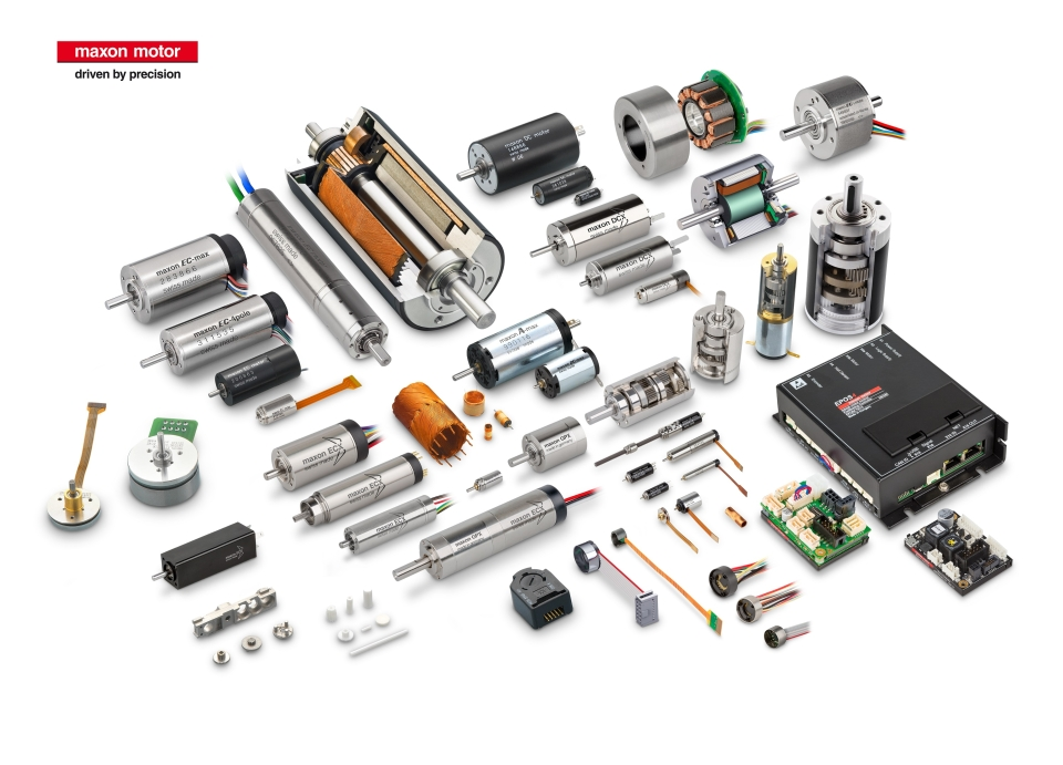 overview product range(photo provided by Maxon Motor Taiwan Co., Ltd.)