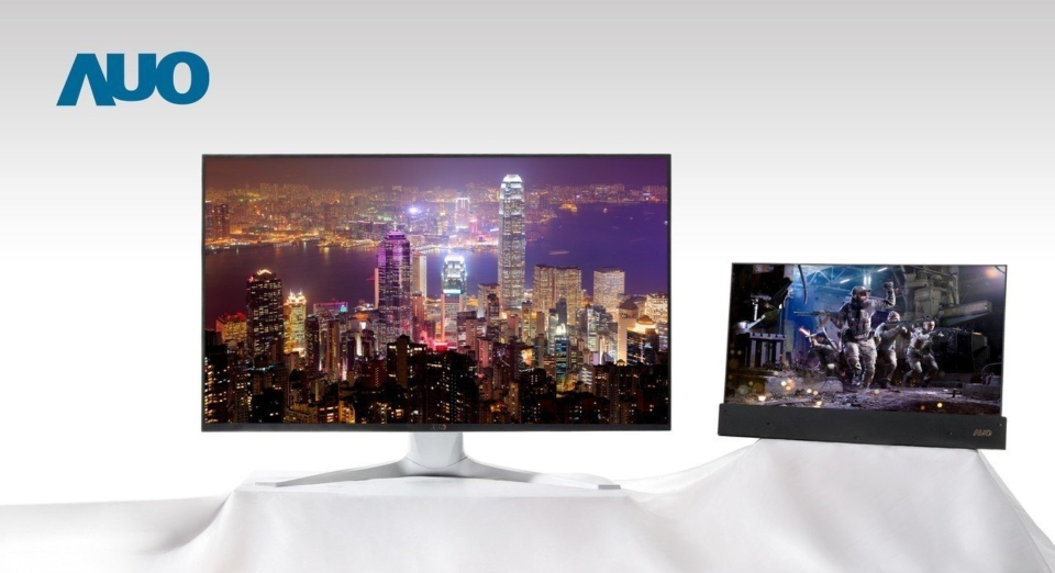 友達系列Mini LED背光顯示面板涵蓋電競、VR、專業應用等領域。 圖/友達提供
