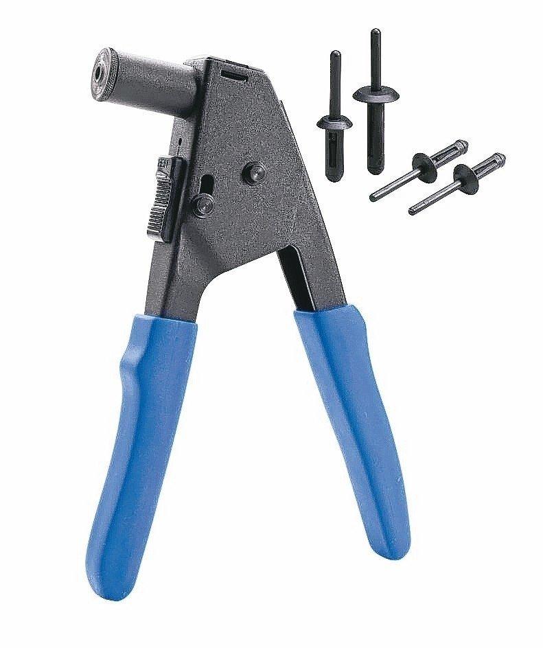 金鈦錩推出創新手工具拉釘槍。 金鈦錩/提供