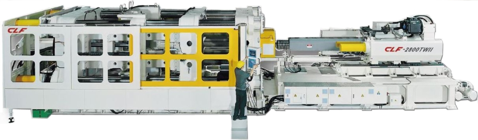 Chuan Lih Fa's outward toggle type plastic injection molding machine has a rigid machine structure which reduces deformation and provides a highly consistent product quality.(photo courtesy of Chuan Lih Fa)
