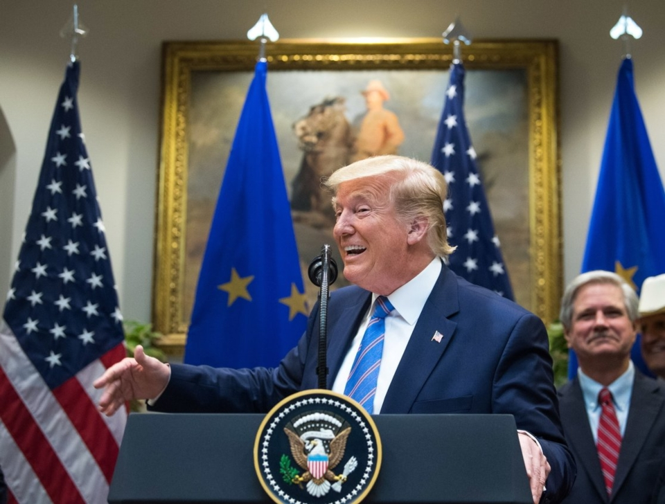 WTO同意美國對歐盟課徵報復性關稅,美國總統川普稱此為重大勝利。 (歐新社)