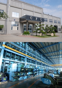 Chong Cheng Fastener Corp. is exceptionally proud of their factory's exterior design and retrieval system. (photo courtesy of Chong Cheng Fastener Corp.)