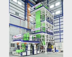 MULTI LAYER CO-EXTRUSION HIGH SPEED BLOWN FILM LINE (photo courtesy of Kung Hsing)