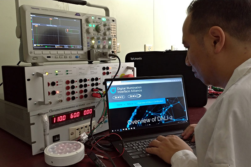 工研院光電測試實驗室獲DiiA聯盟(Digital Illumination Interface Alliance)認可,成為國內唯一取得DALI(Digital Addressable Lighting Interface,DALI)認證殊榮之測試實驗室。