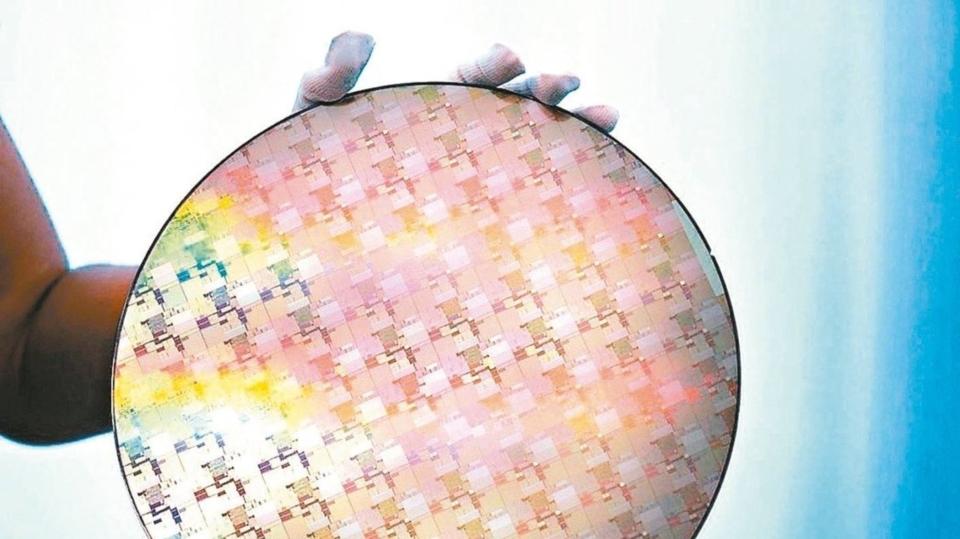 矽晶圓示意圖。 歐新社