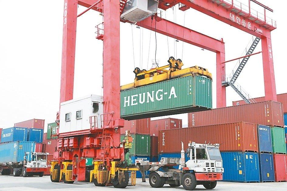 南韓去年12月對陸出口轉正。 歐新社