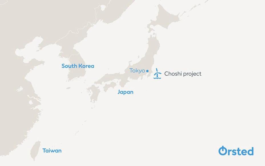 沃旭能源集團(Ørsted AS)宣布與日本最大電力公司東京電力(TEPCO)協議成立合資公司,攜手參與日本銚子市(Choshi)離岸風電特定區域競標。圖/沃旭能源提供