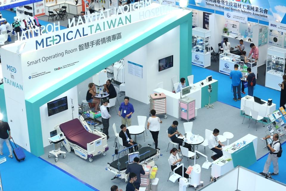 台灣國際醫療暨健康照護展延期至2020年10月15日至17日展出,蓄積動能,展示臺灣防疫亮點。(2019資料照)