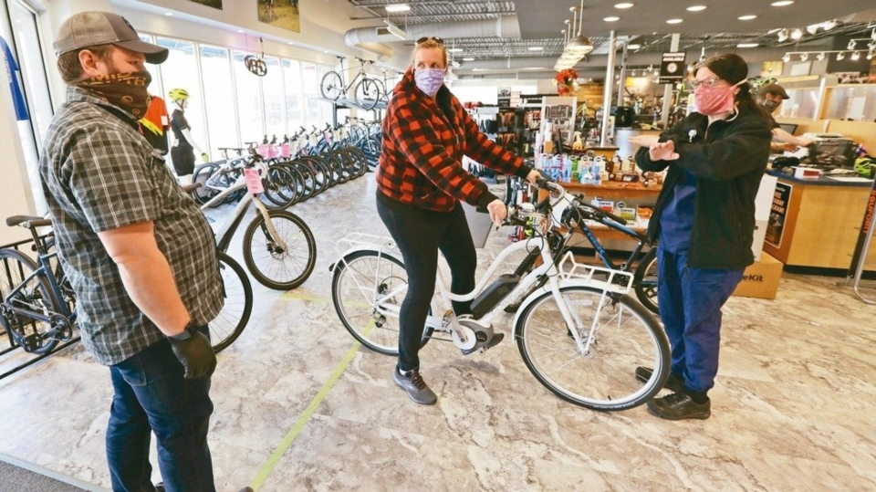 新冠肺炎疫情意外對自行車產業帶來逆勢需求。(美聯社)