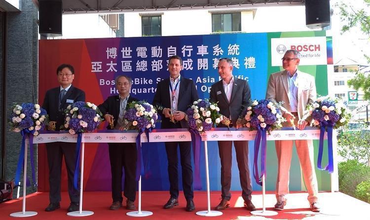 看好台灣自行車產業鏈優勢,德商博世亞太區總部落腳台中。 圖/經濟部提供