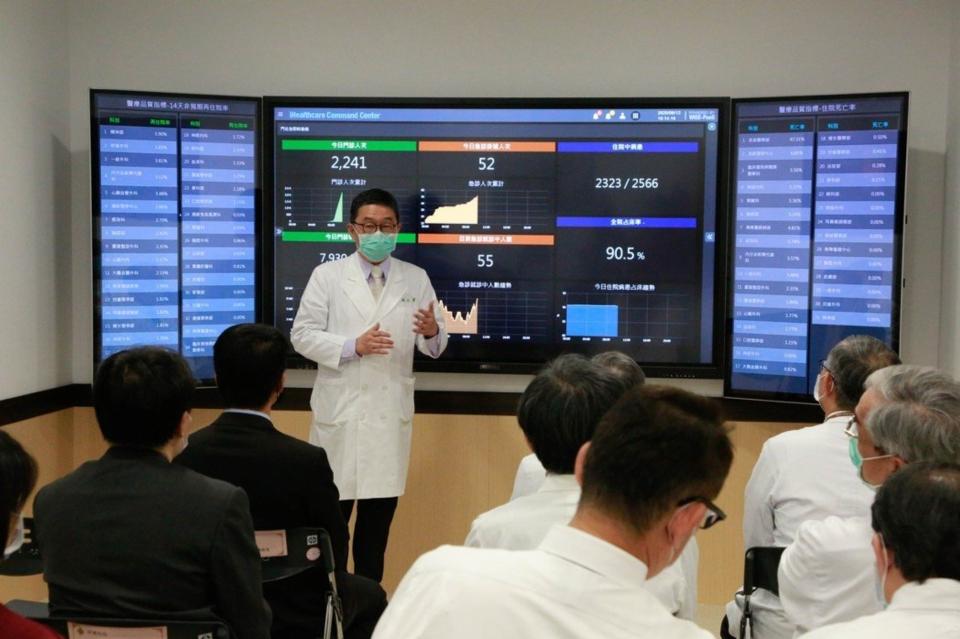 研華攜手臺北榮總打造智慧醫院管理中心,透過數據應用提升醫療管理效率。圖/研華提供