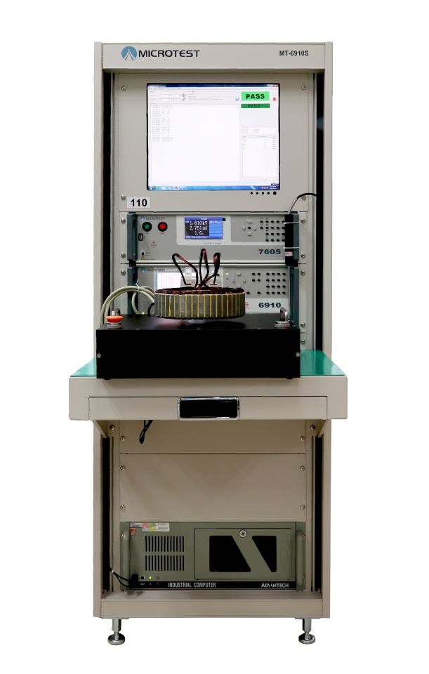 益和(Microtest) 6910S 馬達轉子測試機。益和/提供