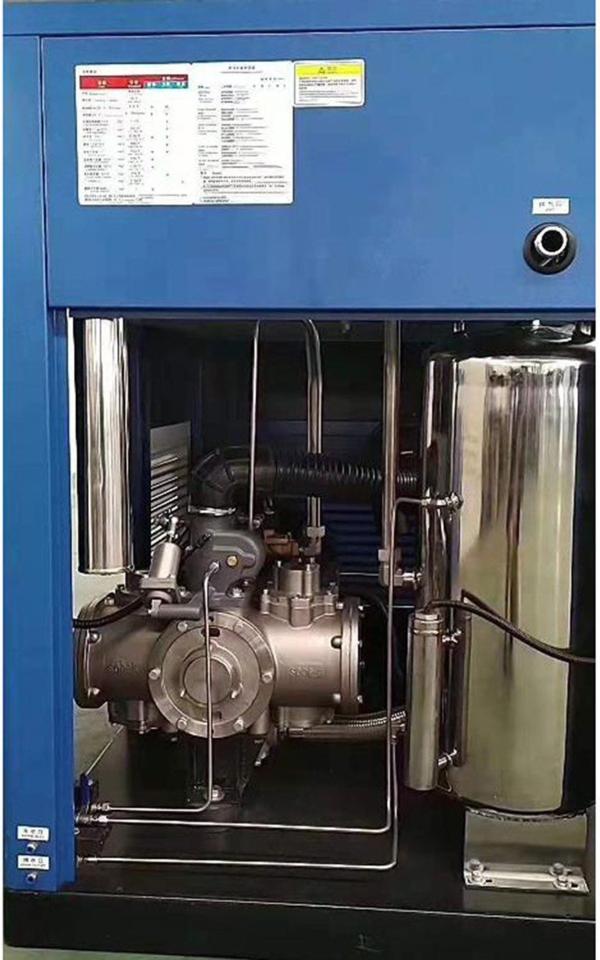 SOBEKPM水潤滑無油式空壓機,APM變頻系列(採用IPM磁懸浮變頻馬達)。 永越/提供
