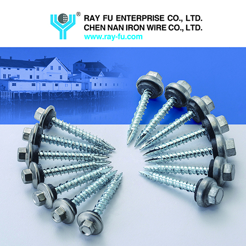 Roofing Screw (capped screws), provided by Ray Fu Enterprise Co., Ltd.