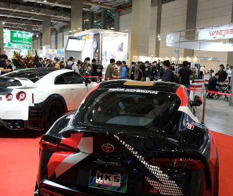 A modified car on display at Taipei AMPA. (Photo courtesy of TAITRA)
