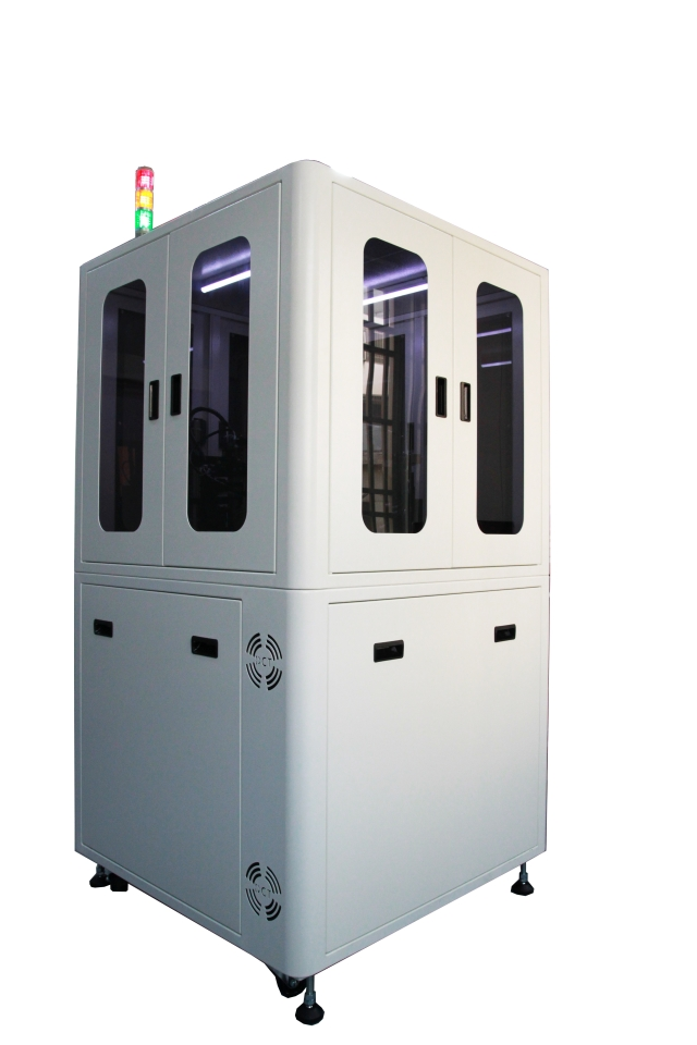 Ding Chen Tek`s optical sorting machine filters out defective or faulty damages on a spherical items` surface. (Photo Courtesy of Ding Chen Tek)
