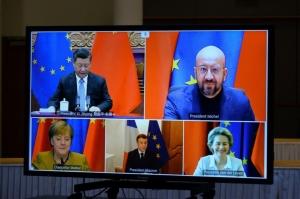歐盟與中國大陸30日宣布達成「原則性協議」,敲定得來不易的歐中投資協定,為外國投資人進一步打開中國市場大門。圖檔來源:路透