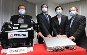 Tatung Corp. unveils Taiwan's first home-grown EV powertrain system. Photo courtesy of Tatung.