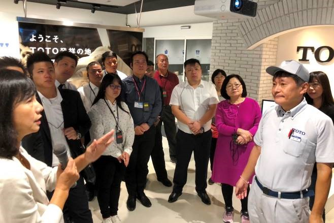 Plumbing Association visits top Japanese company TOTO's facilities. (Photo courtesy of the Plumbing Association.)